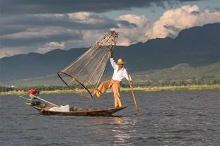 FISHERMAN ON INLE LAKE BURMA