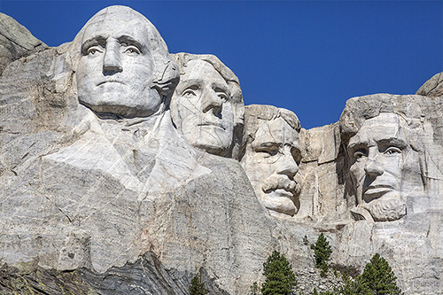 THE PRESIDENTS. MOUNT RUSHMORE