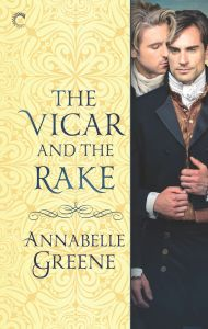 Image of the book cover of The Vicar and the Rake by Annabelle Greene.