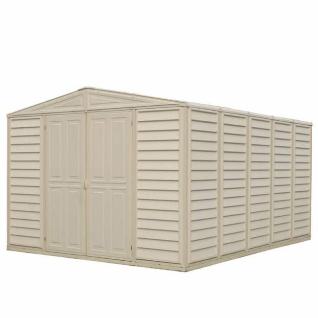 SM Garden Sheds Woodbridge 10' x 13' Vinyl Shed (complete with Install) (Exclusive Offer)