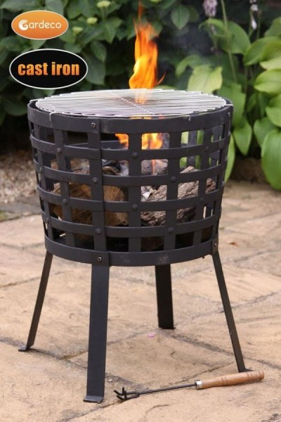 Gardeco ARAGON Big Fire cast iron fire basket