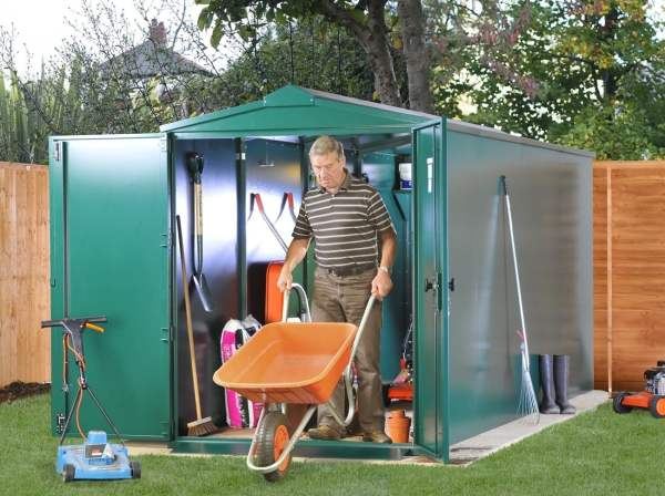 Asgard Metal Centurion P2 Metal Shed 5x14 - Police Approved