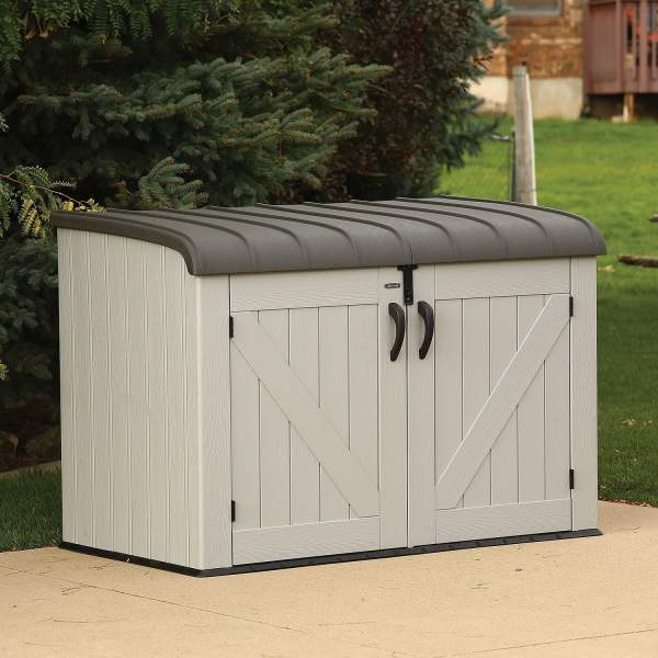 SM Garden Sheds Lifetime 6' x 3.5' Heavy Duty Horizontal Storage Plastic Shed