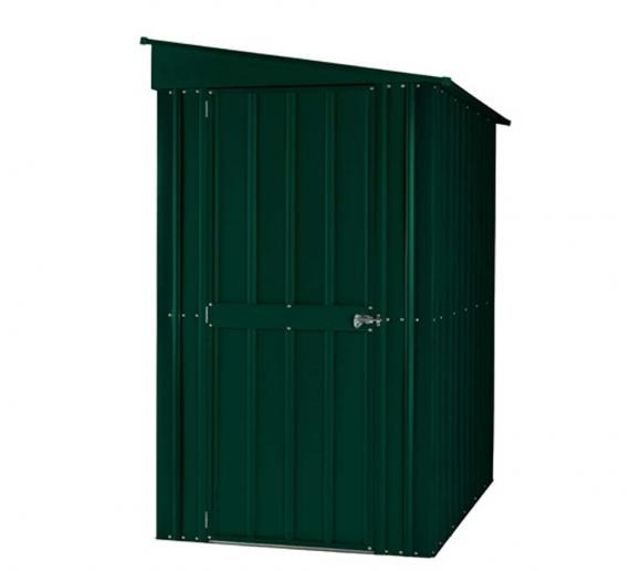Lotus Lean-To 4' x 6' Metal Shed Heritage Green (Solid) (RESALE)