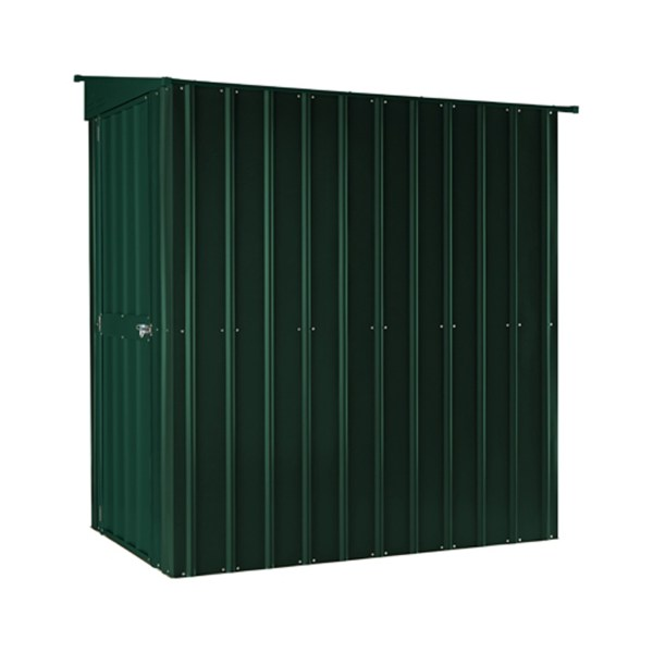 SM Garden Sheds Lotus Lean-To 4' x 6' Metal Shed Heritage Green (Solid) (RESALE)