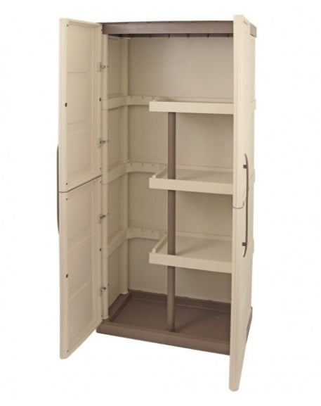 Shire Large Storage Cupboard with Shelves & Broom Storage