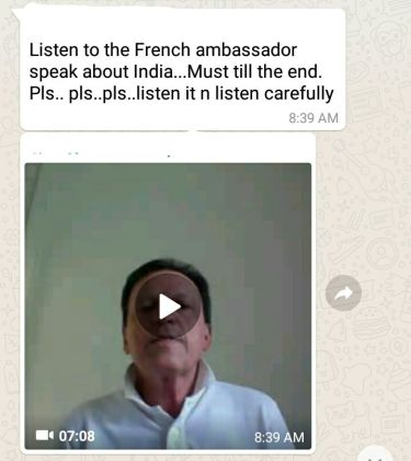 Is That The French Ambassador Telling Us About Indianism Swachh
