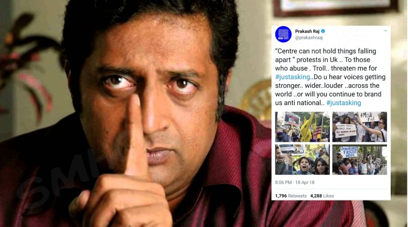 The photos Prakash Raj tweeted are years old and from different places.