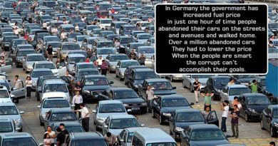 Millions of Germans abandoned their cars on the roads against fuel price hike ?