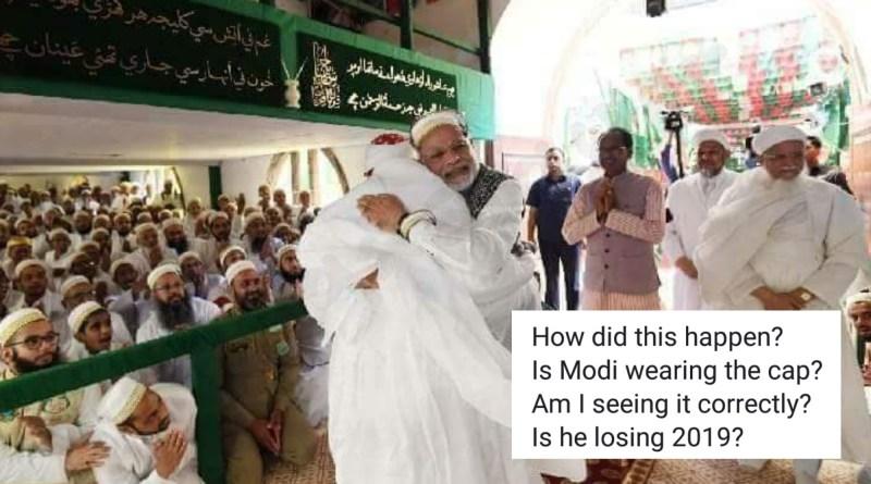 PM Modi didn't wear the cap in Indore on the occasion of 'Ashara Mubaraka'