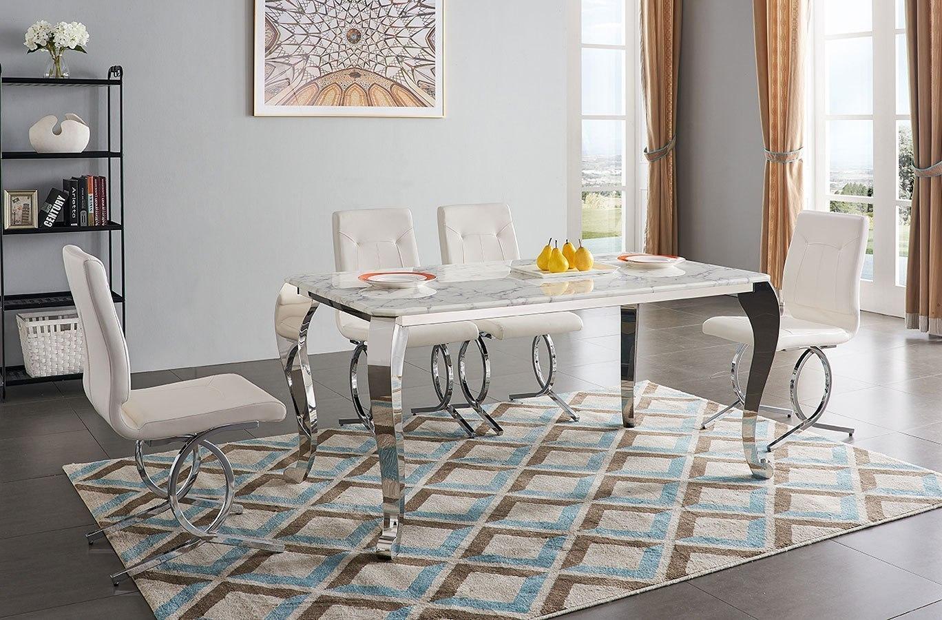 extravaganza 110 marble dining room set