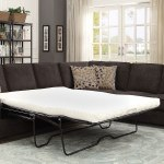 Kendrick Chocolate Sectional W Pull Out Sleeper By Coaster Furniture Furniturepick