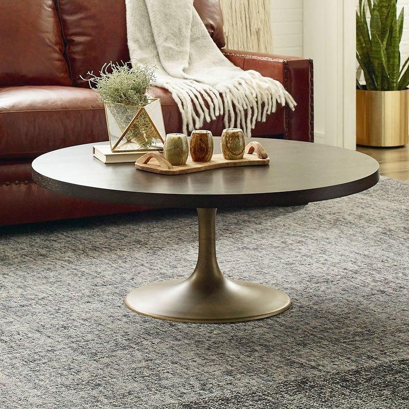 austin round pedestal cocktail table