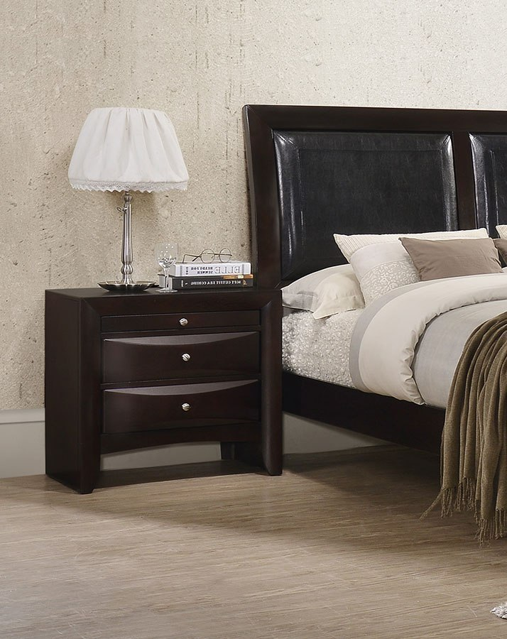emily nightstand dark cherry