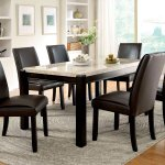 Gladstone I Ivory Marble Top Dining Room Set By Furniture Of America Furniturepick
