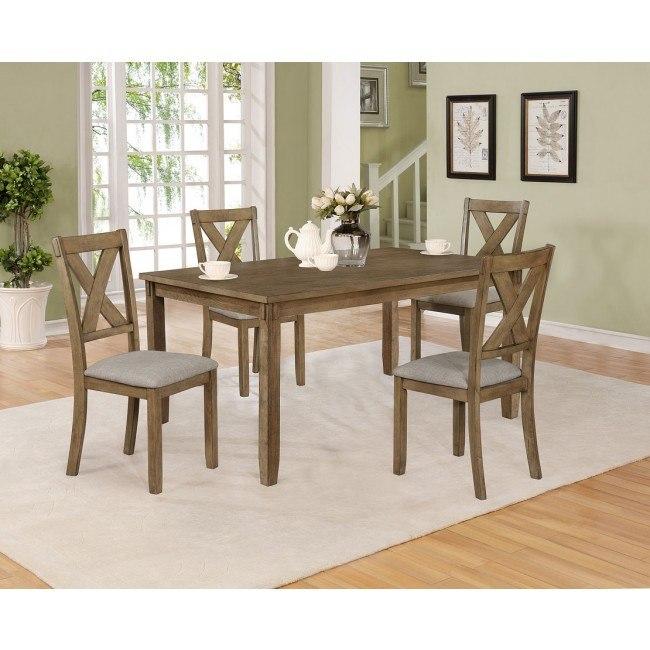 Clara 5 Piece Dining Room Set W Bench By Crown Mark Furniture Furniturepick