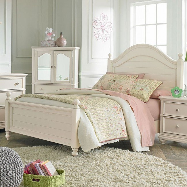camellia youth poster bed marshmallow white
