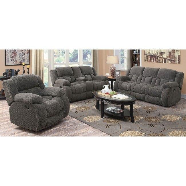 weissman reclining living room set charcoal