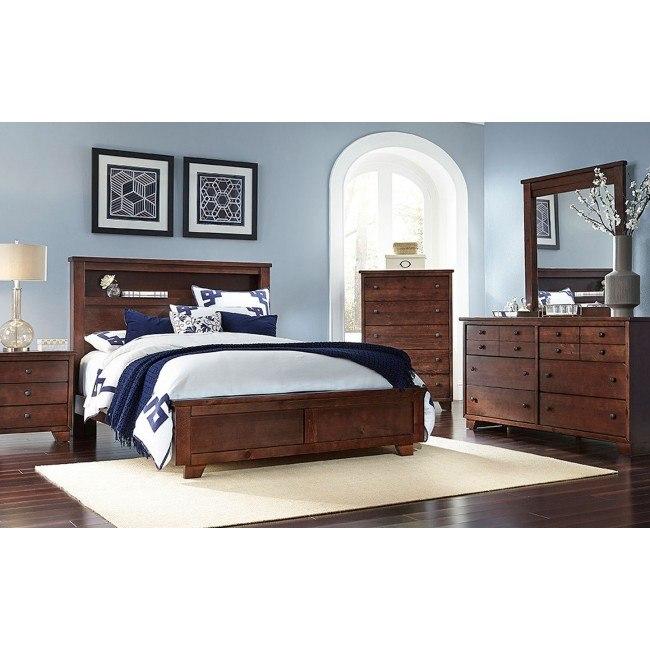 diego bookcase bedroom set espresso pine