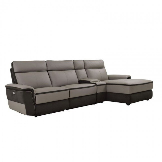 laertes right chaise power reclining sofa w console