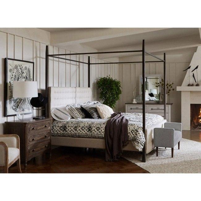 modern authentic metal post canopy bedroom set