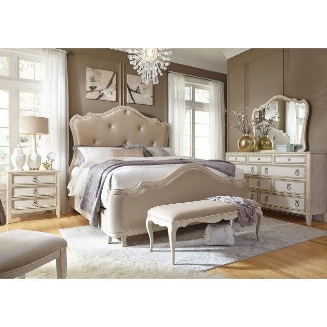 reece upholstered bedroom set