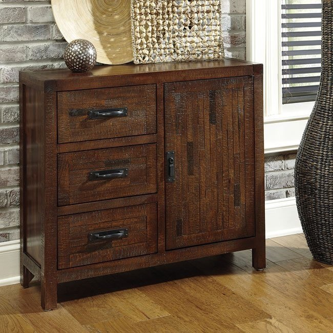 rustic accents cabinet brushed brown