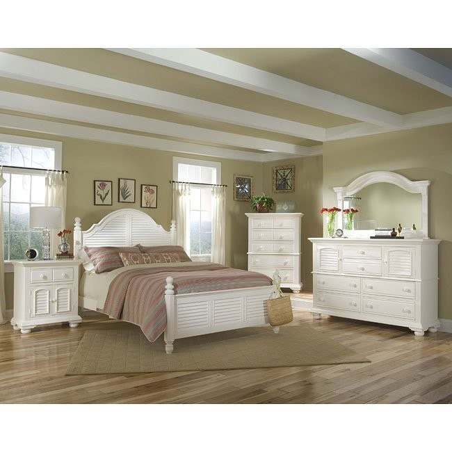 cottage traditions poster bedroom set white