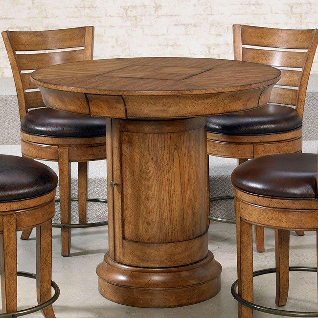 Hidden Treasures Oak Pub Table By Hammary FurniturePick