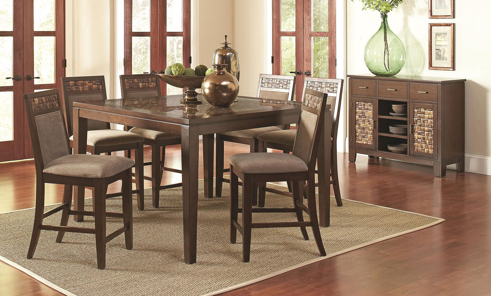 Trinidad Counter Height Dining Room Set By Coaster