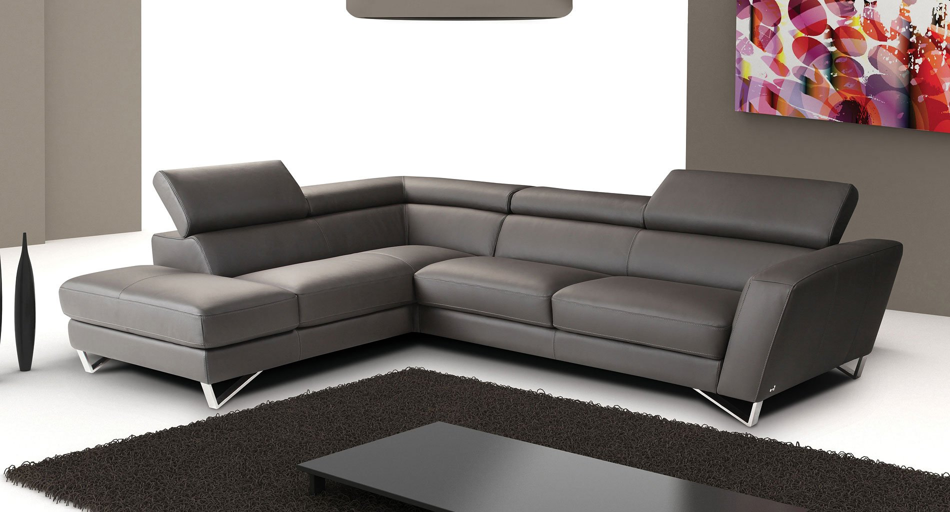 Sparta Leather Left Chaise Sectional (Gray) by JM ... on Sparta Outdoor Living id=55380