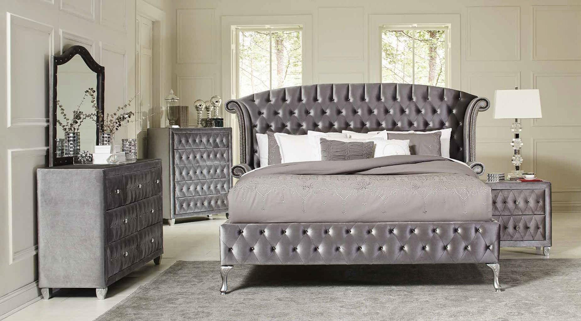 Deanna Upholstered Platform Bedroom Set Bedroom Sets