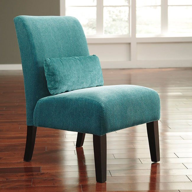 Annora Teal Accent Chair Accent Chairs Living Room