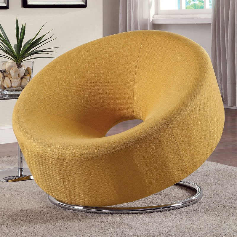 Donut Shaped Accent Chair Yellow Accent Chairs
