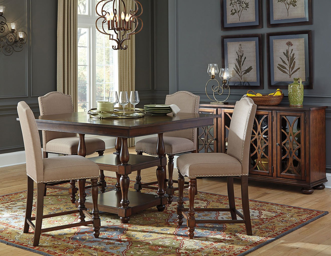 baxenburg counter height dining room set casual dining on rooms to go dining room furniture id=34883