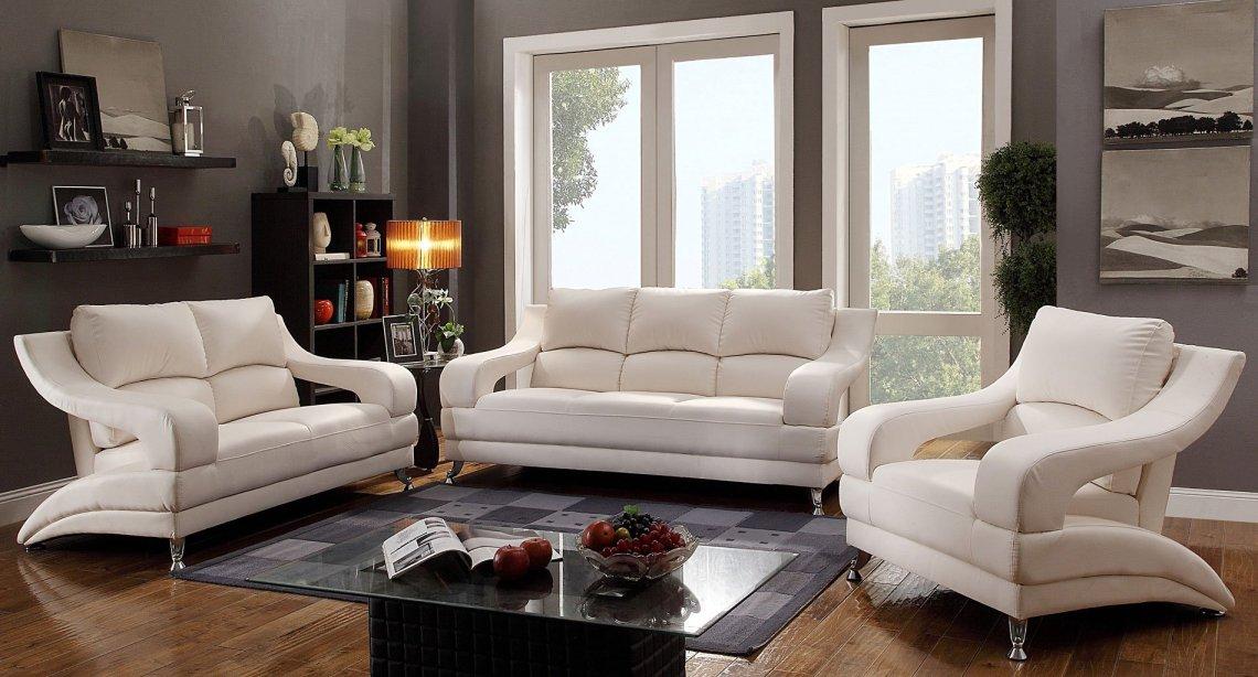 G247 Modern Living Room Set (White) - Living Room Sets ...