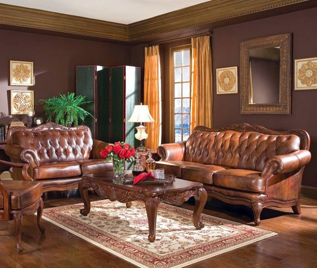 Victoria Leather Living Room Set