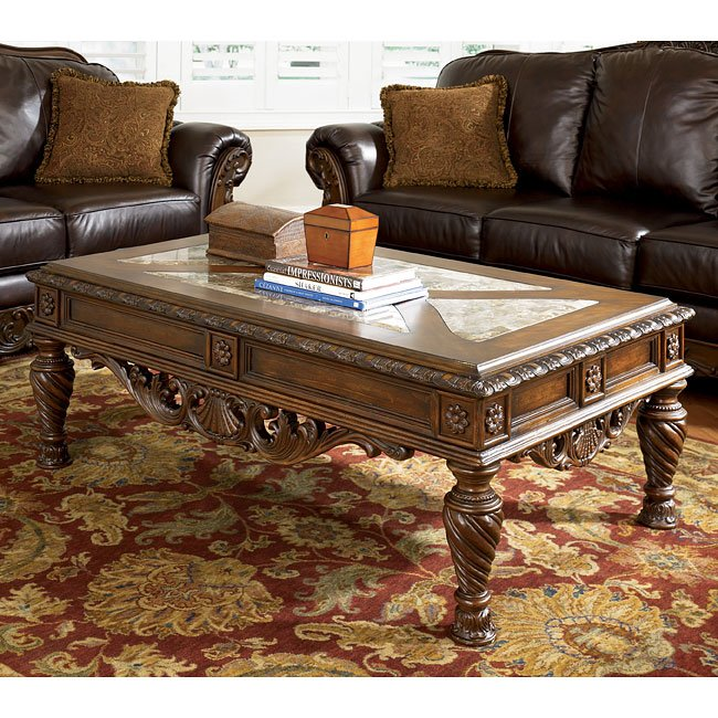 North Shore Occasional Table Set Signature Design By