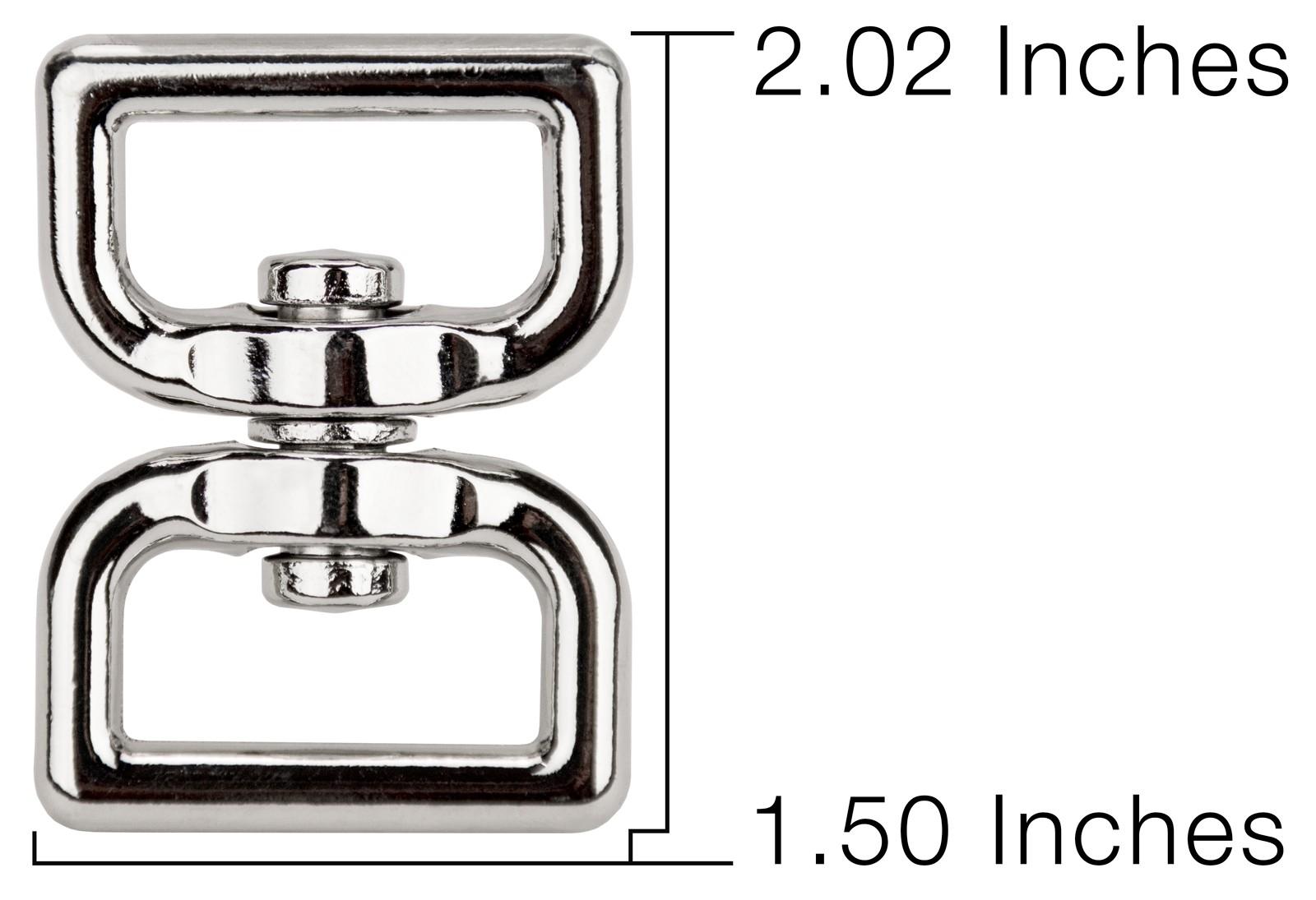 Buy 1 Inch Rectangle Double Eye Swivel Rings Online