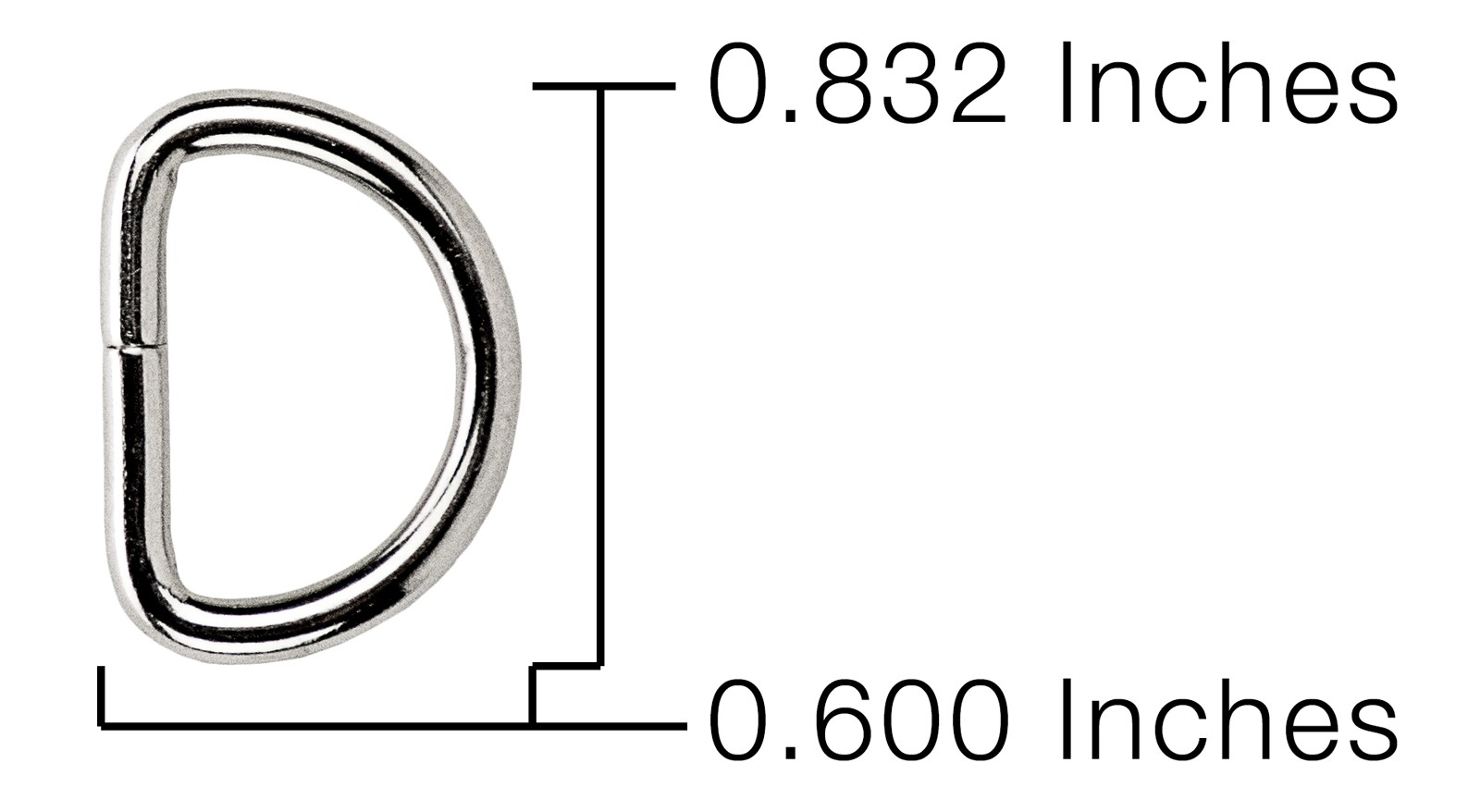 Buy 5 8 Inch Light Weight Non Welded D Rings Online