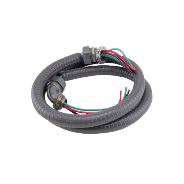 1/2 inch X 6 ft Liquid-tight flexible Electrical Whip with 3x#8 awg wires