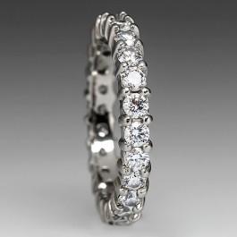 VS Diamond Eternity Wedding Band Ring In 18K White Gold