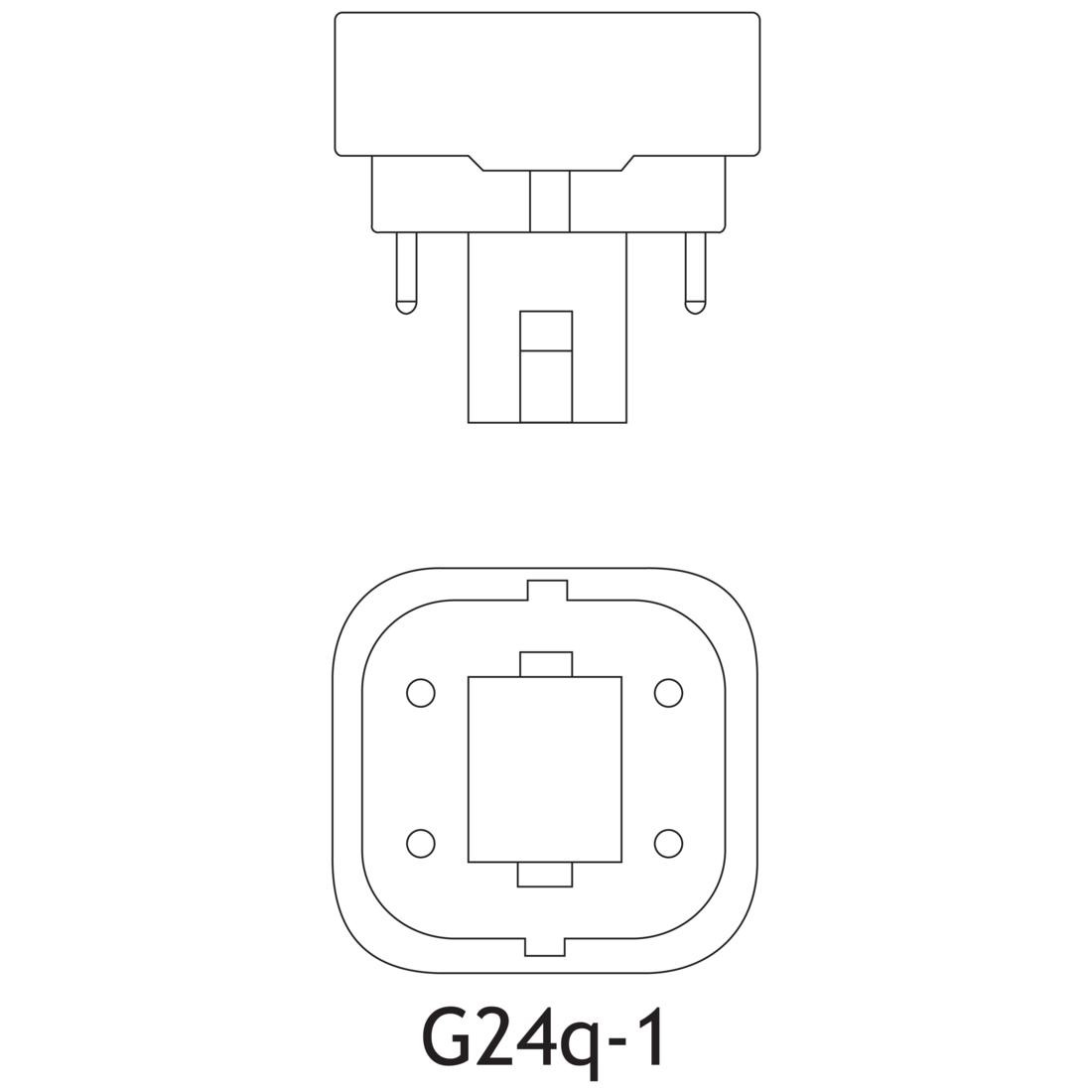 Sylvania Cf13dd E 827 Eco 13 Watt T4 Quad Tube Cfl K 4 P