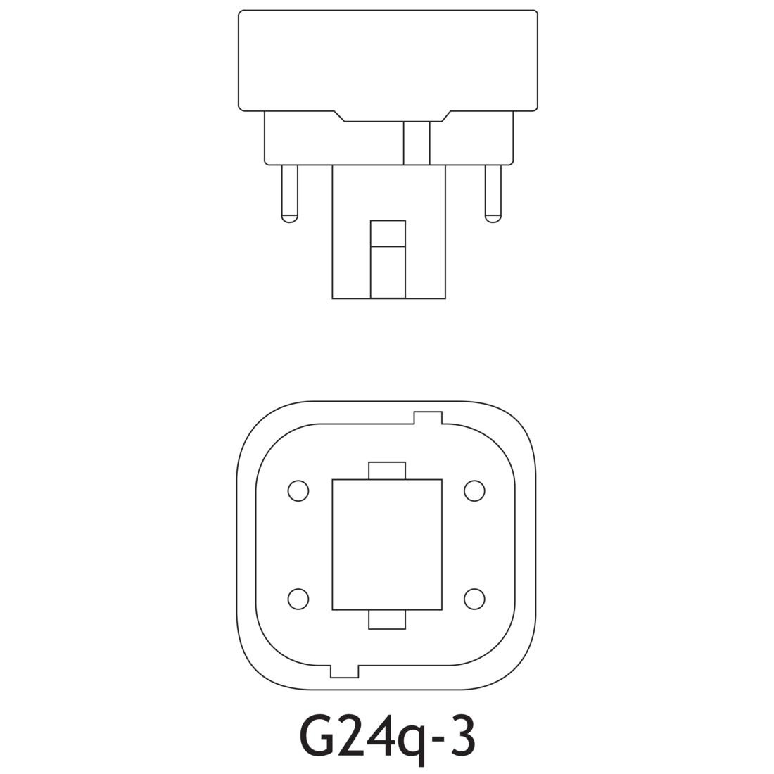 Ge F26dbx 841 Eco4p 26 Watt T4 Quad Tube Cfl K 82 Cri 4