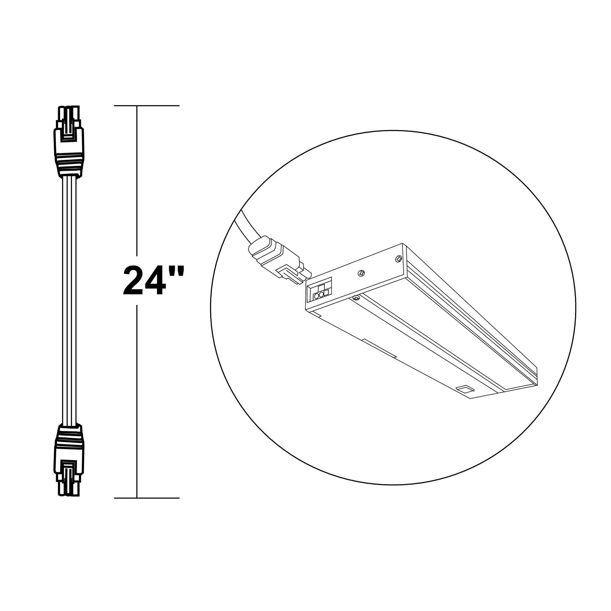 Nicor Nuc 4 Jumper 24 Wh 24 Inch Jumper Cable For Linkable D