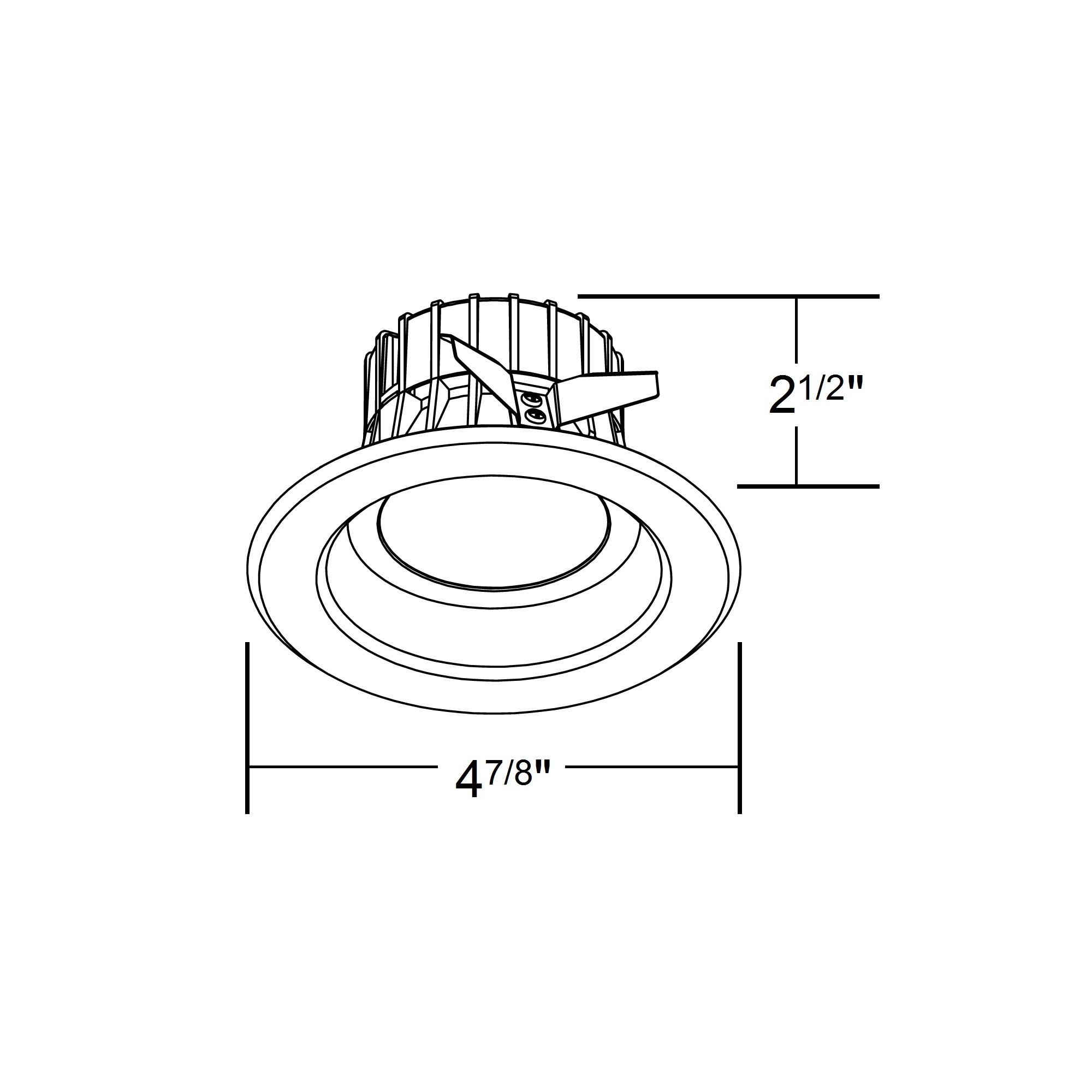 Nicor Dlr4 120 3k Bk K 4 Inch Recessed Led Downligh
