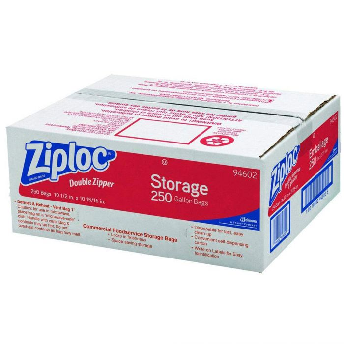 1 gallon ziploc bags 250 case construction fasteners and tools