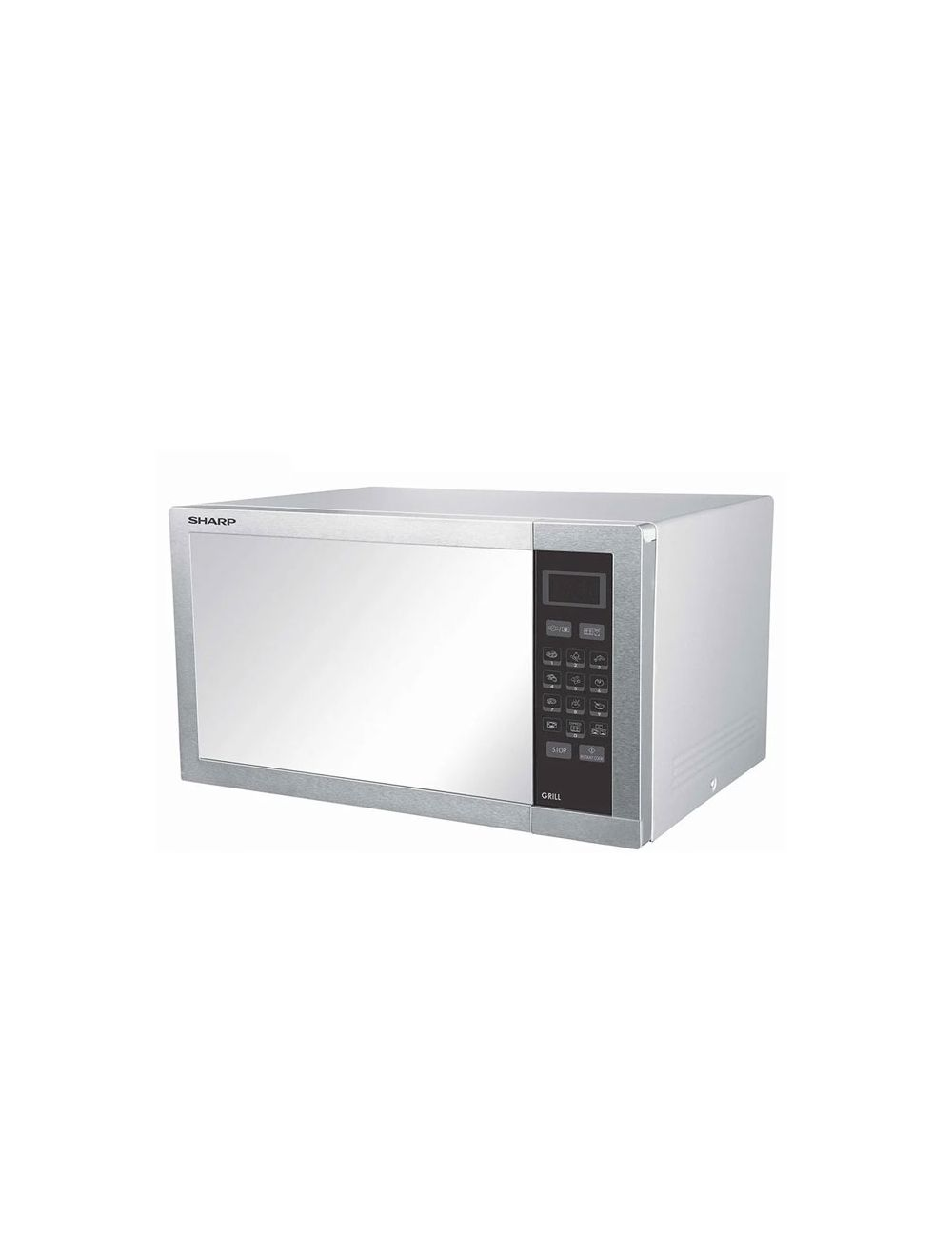 sharp microwave grill 34 l 1000w stainless with grill and 9 cooking menus r 770ar st