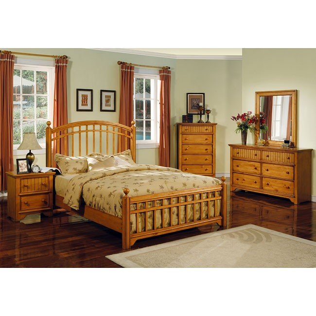 country pine panel bedroom set