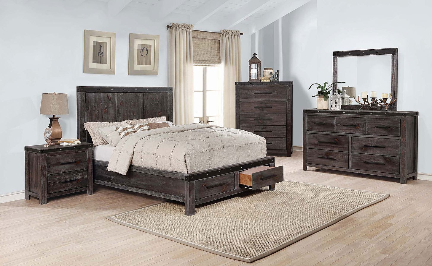 Barkley Storage Bedroom Set Coaster Furniture   Furniture Cart Barkley Storage Bedroom Set